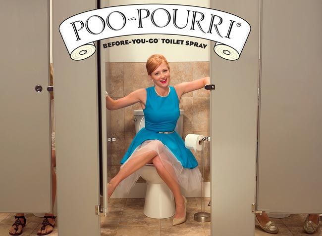 Poo-Pourri, a company located here in Addison, has become a nationally phenomenon with thanks to a very popular YouTube video. Photo courtesy Poo-Pourri.