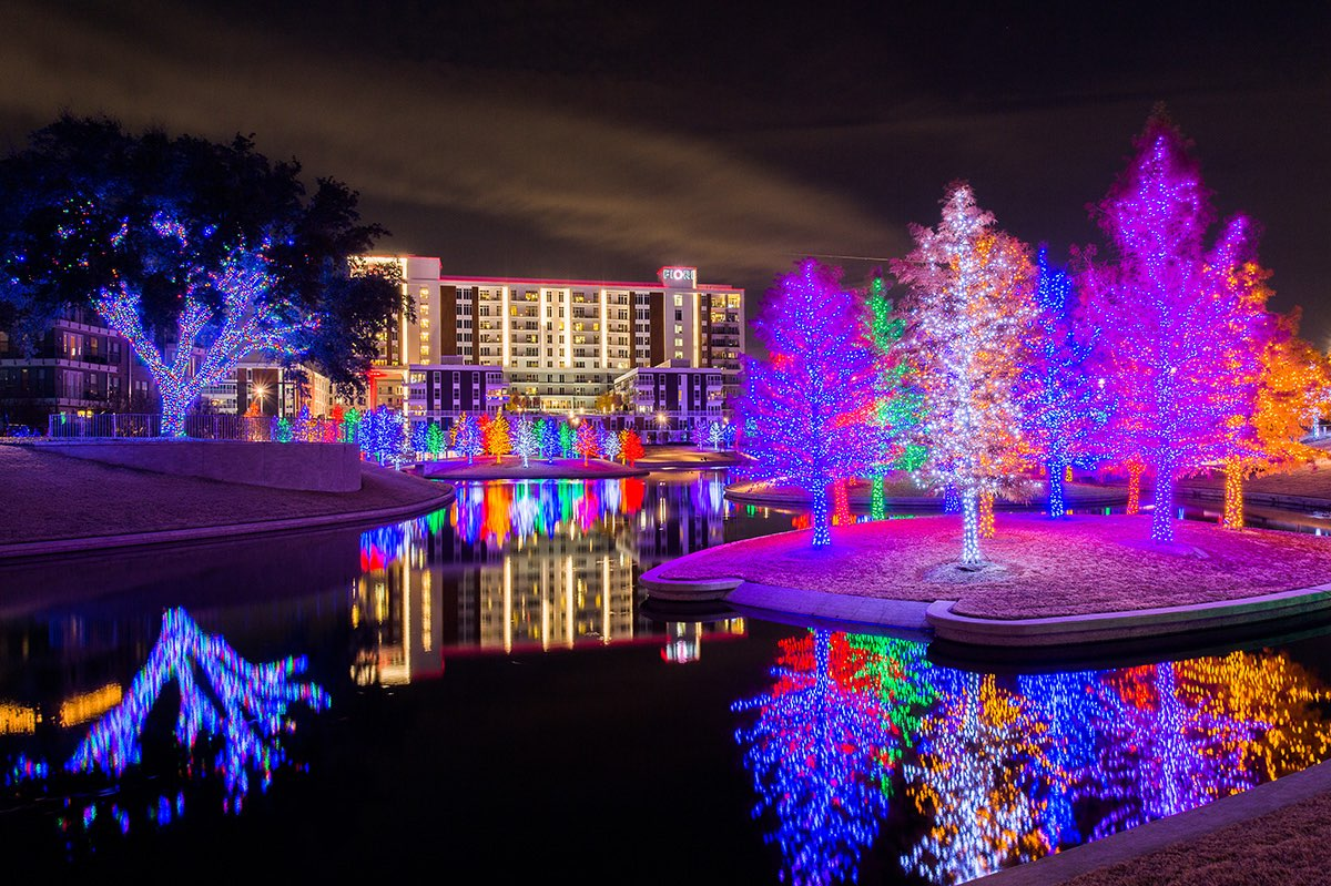 Burgess Park Christmas Light 2020 See the Sparkling Vitruvian Lights from Nov. 23 Jan. 1   Addison