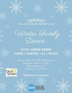 Winter Family Dance @ Addison Athletic Club | Addison | Texas | United States