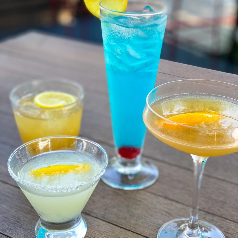 Enjoy a colorful drink at happy hour. Credit: Sidecar Social.