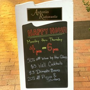 New Happy Hour and Tasting Tuesdays at Antonio Ristorante