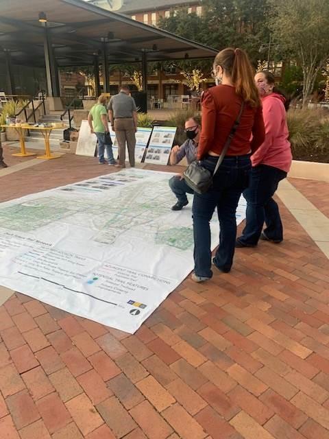 Addison City-Wide Trails Master Plan pop-up workshop.