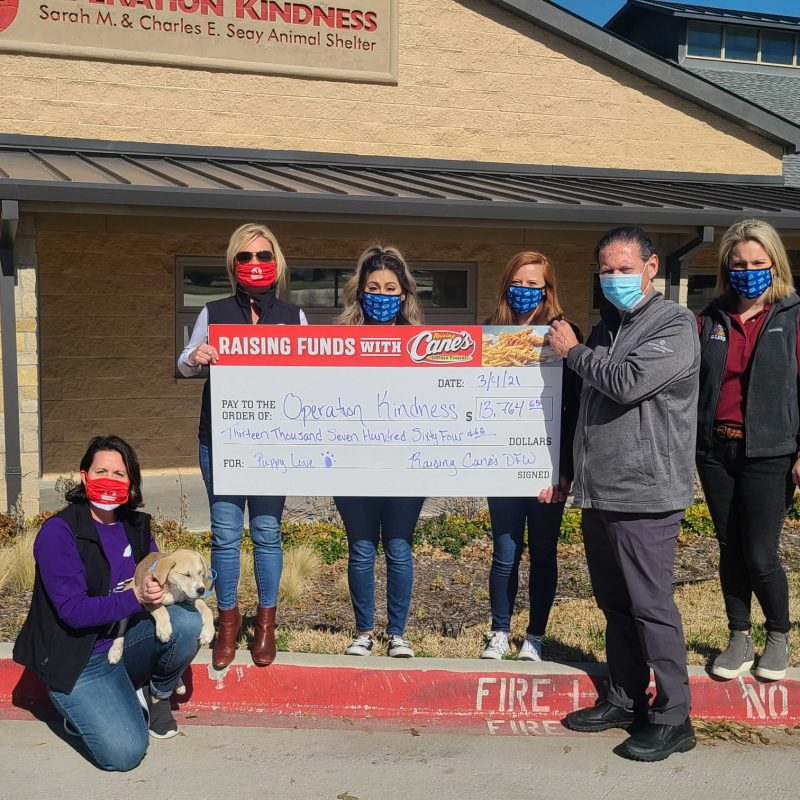 Raising Cane's Raises Over $13,000 for Operation Kindness
