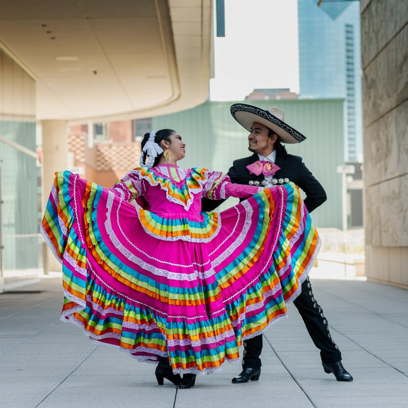 Anita N. Martinez Ballet Folklorico music and dance lessons at Addison After Dark! Credit: Town of Addison.