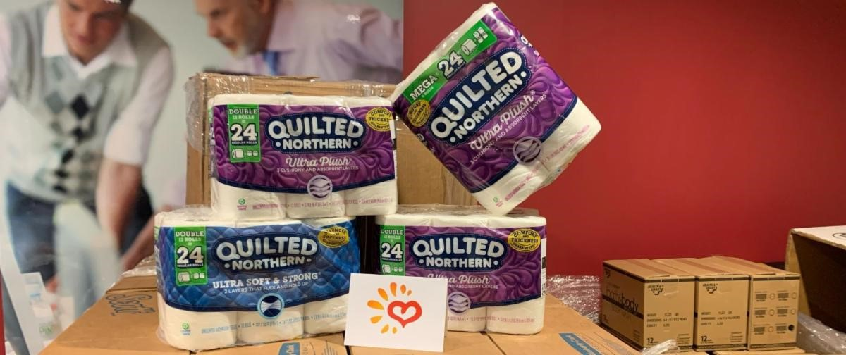 Athletic Club Collecting Toilet Paper Donations for Metrocrest Services Drive